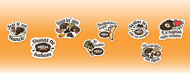 Examples of customized Viber stickers made by ClickAttack